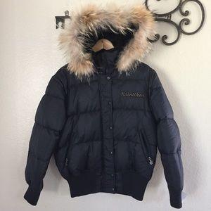 Rocawear Black Puffer Duck Down Winter Jacket XL